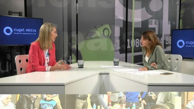 Ingla i la directora de Cugat Mèdia, Mònica Lablanca