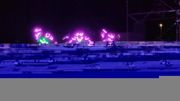 L'espectacle lumínic dels Brodas Bros ha estat un dels principals atractius / Foto: Cugat Mèdia