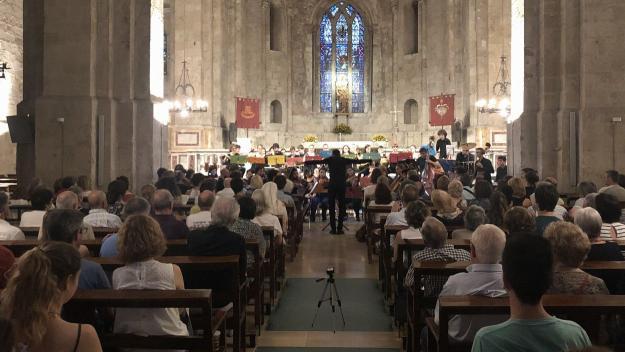 Imatge del tradicional Concert de Festa Major de Sant Cugat de l'Orquestra Fusió / Foto: Cugat Mèdia