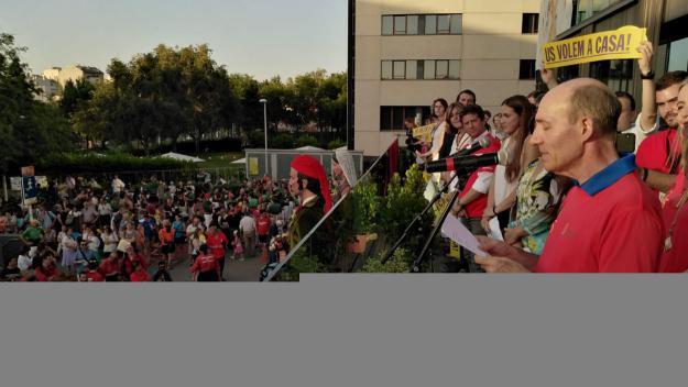 Nacho Gonzalvo durant el pregó / Foto: Localpres