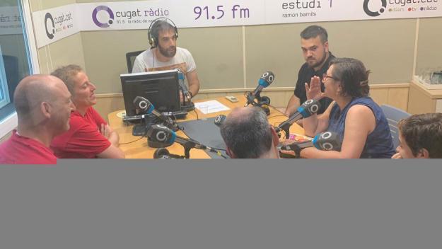 Un moment de l'entrevista / Foto: Cugat Mèdia