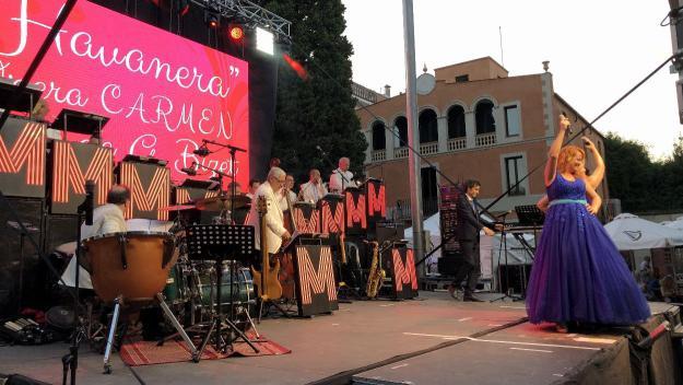 L'Orquestra Maravella ha actuat a Can Quitèria / Foto: Cugat Mèdia