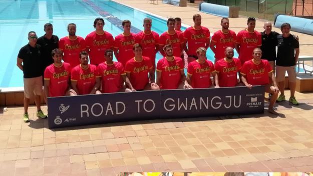 La selecció espanyola de waterpolo al CAR / Font: Cugat.cat
