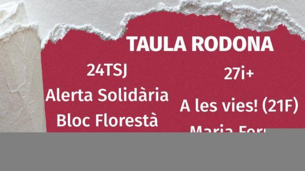 Taula rodona organitzada pel CDR de Sant Cugat / Foto: CDR Sant Cugat