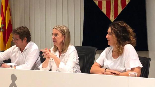 Pere Soler, Mireia Ingla i Núria Gibert / Foto: Cugat Mèdia