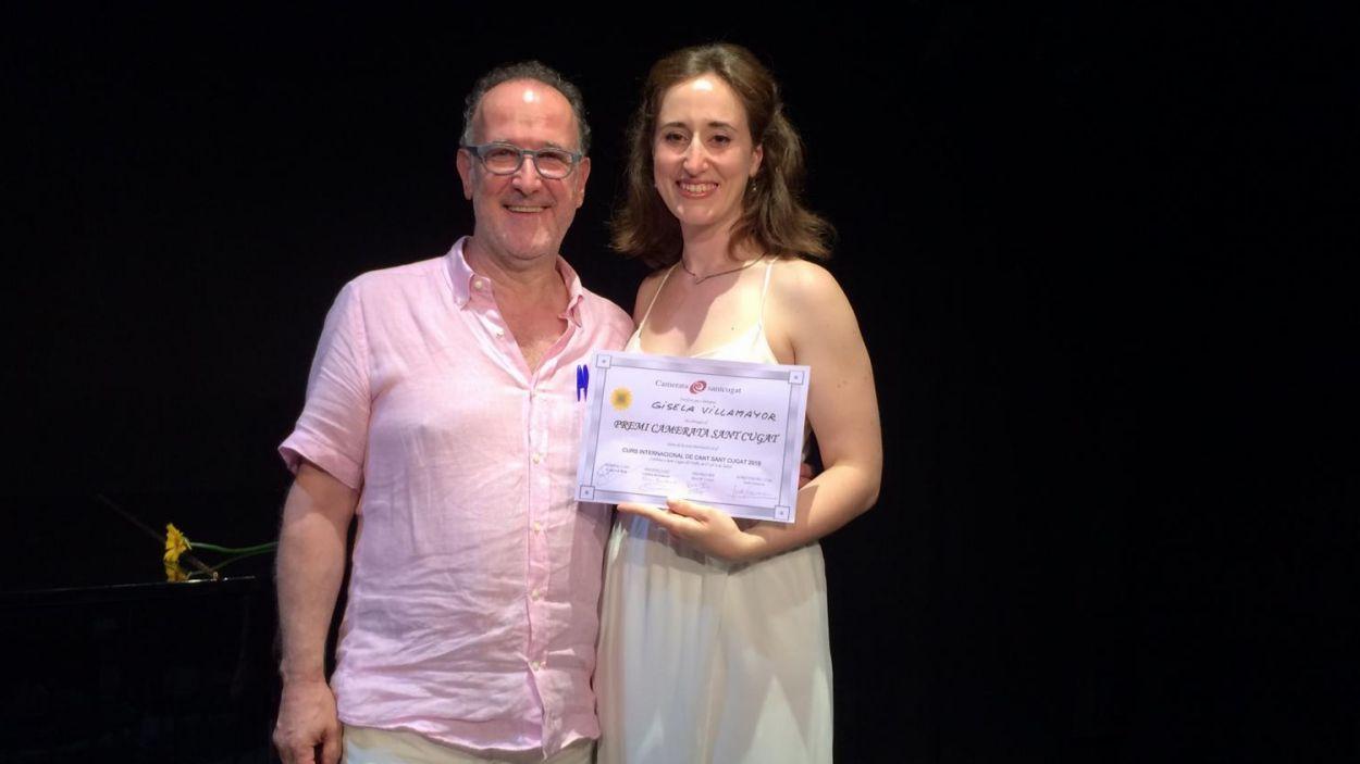 Gisela Villamayor amb el director de Camerata Sant Cugat, Xavier Baulies / Foto: Camerata Sant Cugat