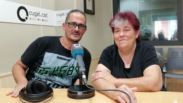 Òscar Martínez i Rosa Maria Marquès, primer voluntari i fundadora del Cau Amic / Foto: Cugat Mèdia