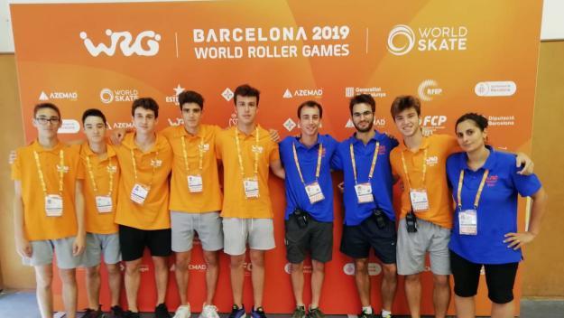 Equip de voluntaris del Patí Hoquei Club Sant Cugat als Roller Games / Font: Cugat Mèdia