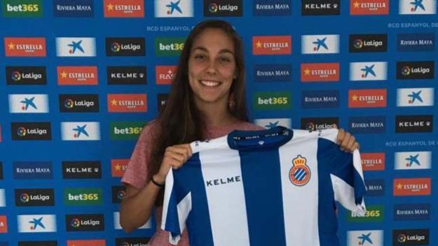 Lidia Rubio, presentada amb l'Espanyol B / Font: RCD Espanyol