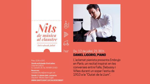 Nits de música al Claustre: Daniel Ligorio, piano
