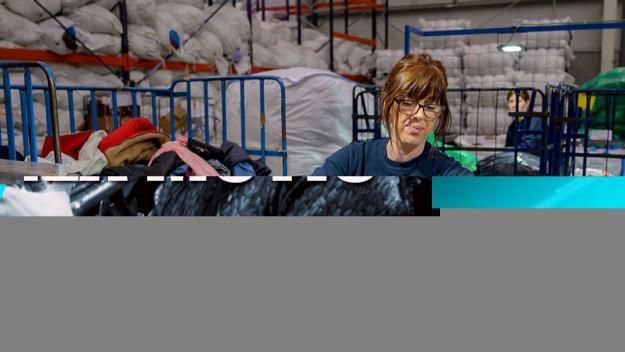 Humana recupera a Sant Cugat 89 tones de roba usada en sis mesos