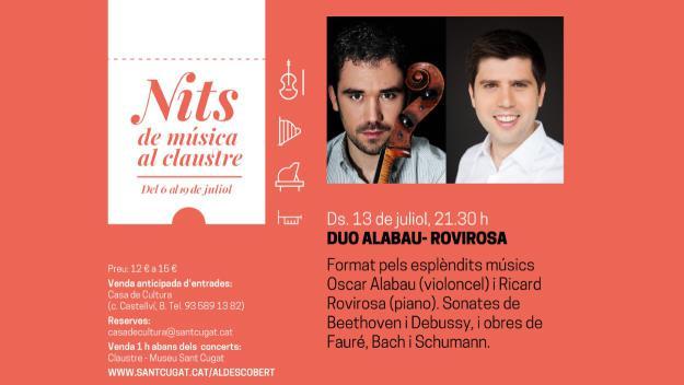 Nits de música al Claustre: Duo Alabau-Rovirosa