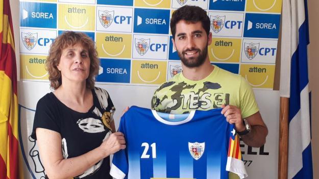 David Martínez, presentat com a jugador del CP Taradell / Font: CP Taradell