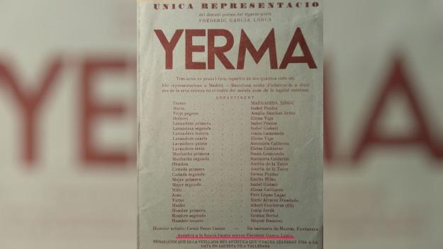 L'any 1935 Lorca i Xirgu van ser a Sant Cugat per l'obra 'Yerma'