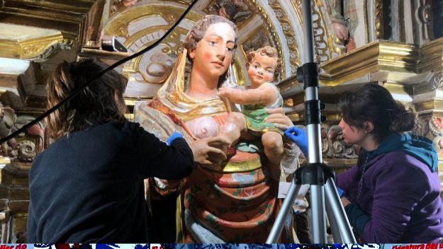 El CRBMC finalitza la restauració de la marededeu del Monestir de Santes Creus