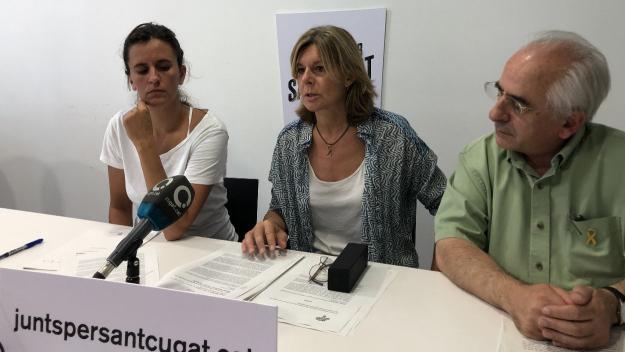 Sandra Casat, Carmela Fortuny i Joan Puigdomènech de Junts per Sant Cugat / Foto: Cugat Mèdia