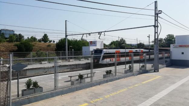 L'estació de tren de l'Hospital General / Font: Cugat Mèdia