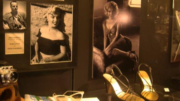 Alguns dels objectes de Marilyn Monroe a la Casa-Museu Cal Gerrer / Font: Cugat Mèdia