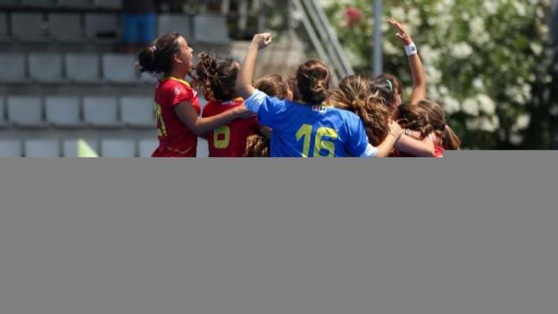 Les jugadores de la selecció estatal celebrant la victòria / Foto: RFEH