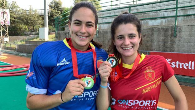 Clara Pérez i Laia Vidosa, campiones d'Europa sub-21 d'hoquei herba amb ADN Junior
