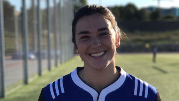 La jugadora del Rugby Sant Cugat, Elisabet Segarra / Foto: Rugby Sant Cuga
