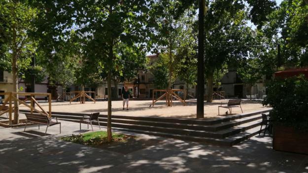 Fa vuit anys de l'inici de les obres a la plaça de Barcelona
