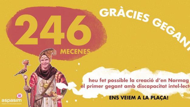 El primer gegant amb discapacitat intel·lectual de Catalunya ja té finançament per néixer