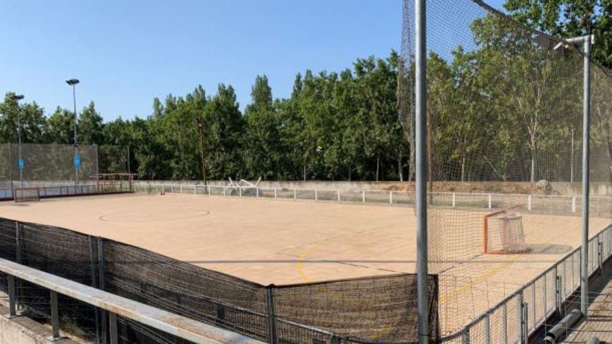Imatge de la pista de la ZEM Jaume Tubau / Font: Cugat Mèdia