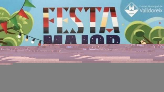 Detall del cartell de la Festa Major / Foto: EMD Valldoreix
