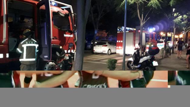 Incendi al barri de Can Magí pel mal funcionament d'una assecadora