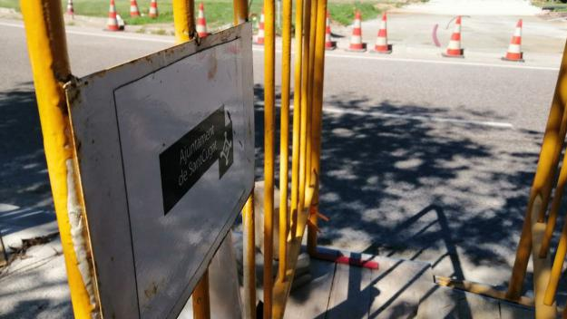 Les obres de la rotonda de l'Hipòdrom, en marxa / Foto: Cugat Mèdia