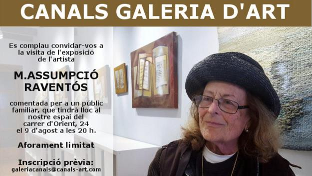 Visita a l'exposició de l'artista Maria Assumpció Raventós