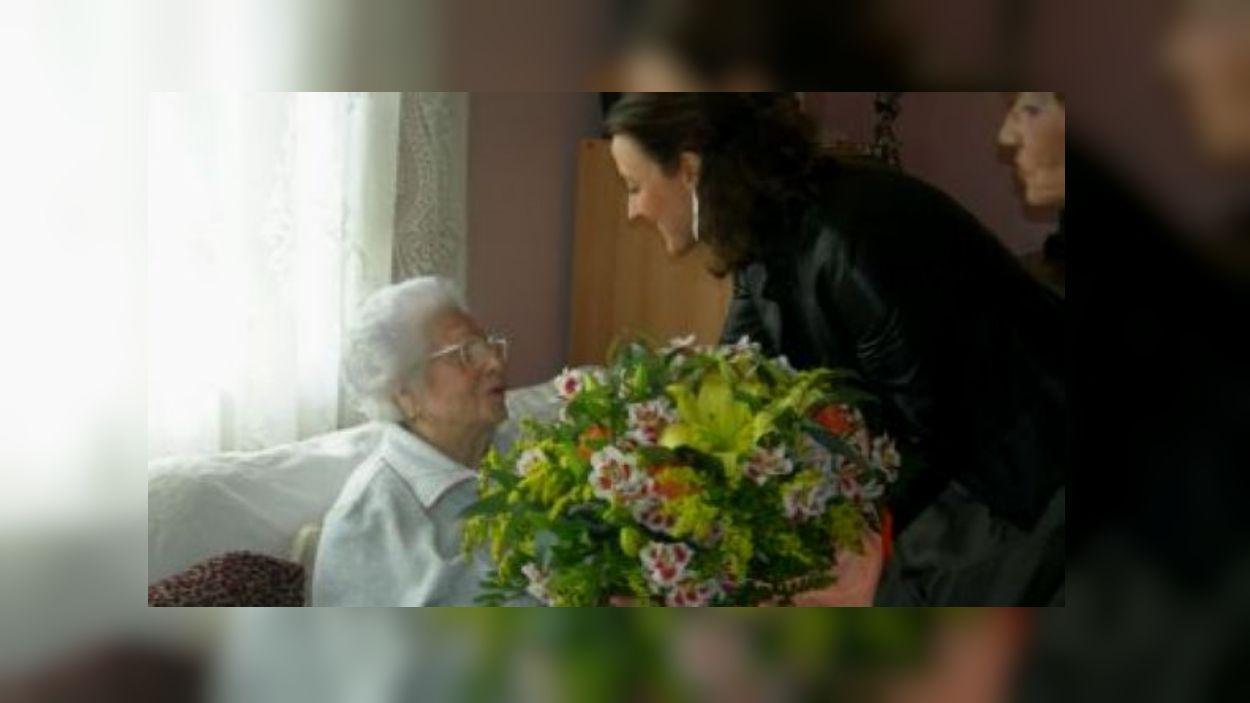 Aurora Monterroso era una dels 40 catalans amb 108 anys / Foto: Cugat Mèdia