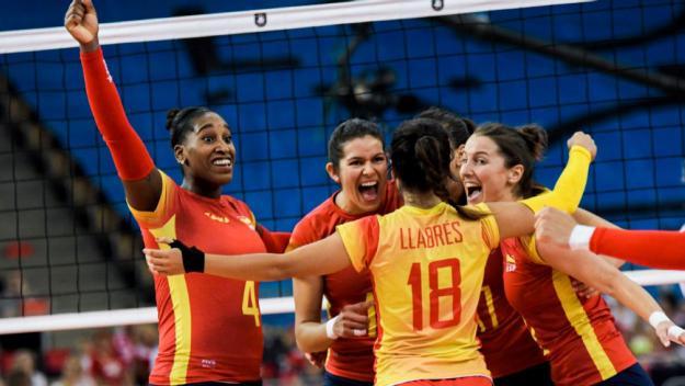La selecció espanyola, amb Priante i Bebel, cau als vuitens de l'Europeu / Font: Rfevb.es