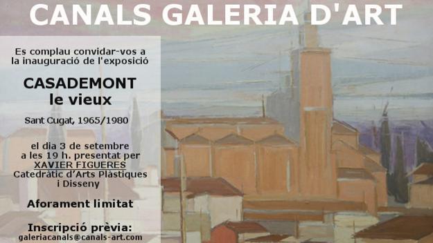 Inauguració d'exposició: 'Casademont le Vieux. Sant Cugat, 1965-1980'