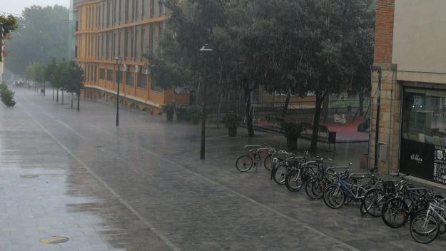 Les pluges poden ser intenses a la comarca / Foto: Cugat Mèdia