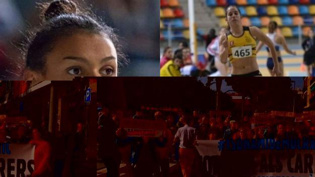 Les atletes santcugatenques Jaël Betsué i Cora Salas / Foto: Cedida