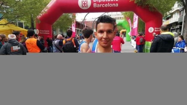 Houssame Edin, vigent campió de la Mitja Marató / Font: Cugat Mèdia