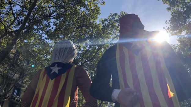 El Joan i la Marieta han estat a la manifestació de Barcelona / Foto: Cugat Mèdia