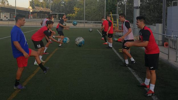 Imatge d'un entrenament del primer equip / Foto: Sant Cugat FC