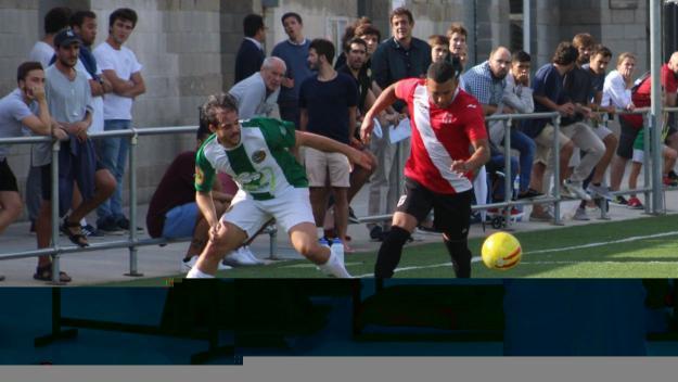 Imatge del partit entre el Valldoreix FC i l'Almeda / Foto: Cugat Mèdia
