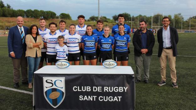 Presentació de les noves equipacions del Rugby Sant Cugat / Font: Rugby Sant Cugat