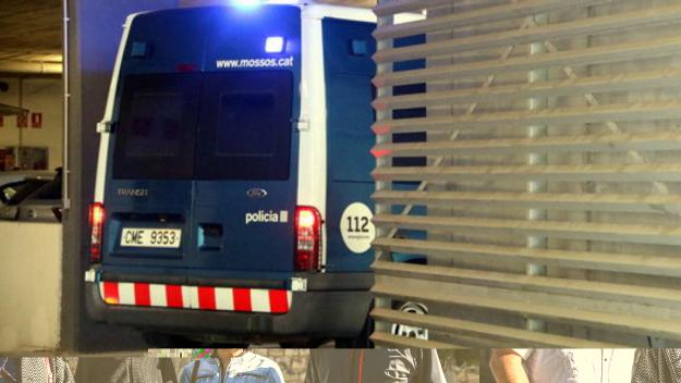 Un furgó dels Mossos entrant a una comissaria / Foto: ACN