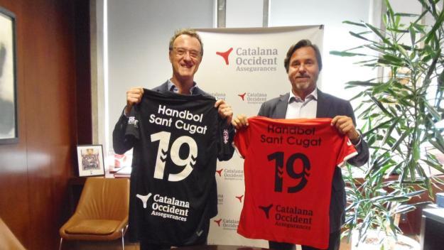 Acord de patrocini entre l'Handol Sant Cugat i Catalana Occident / Font: Handbol Sant Cugat