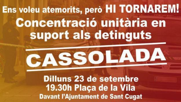 Imatge de la convocatòria / Foto: Twitter ANC Sant Cugat