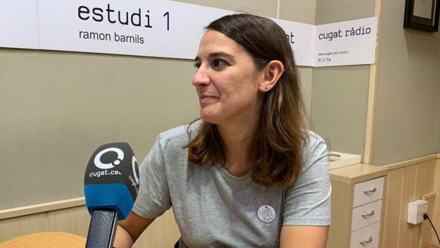 La regidora d'Esports, Gemma Aristoy, al programa 'Esport en Marxa' / Font: Cugat Mèdia