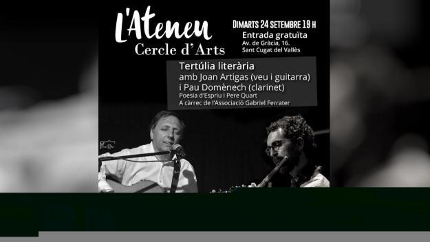 Cercle d'Arts Tertúlies literàries: Presentació del disc 'Silencis en veu alta' de Joan Artigas