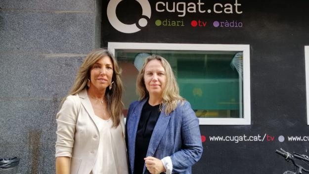 Lídia Codinachs i Maria Freiria, dues de les encarregades del congrés / Foto: Cugat Mèdia