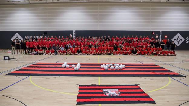 Imatge de la presentació de l'any passat / Foto: Futbol Sala Sant Cugat