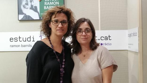 Sílvia Trabalón, de Sant Cugat Empresarial, i Eva Blanco, d'HP / Foto: Cugat Mèdia